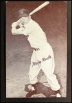 1962 Exhibit Stat Back #23  Mickey Mantle  Front Thumbnail