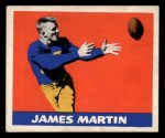 1948 Leaf #24 RED Jim Martin  Front Thumbnail