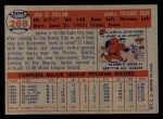1957 Topps #268  Jackie Collum  Back Thumbnail