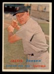 1957 Topps #220  Jackie Jensen  Front Thumbnail