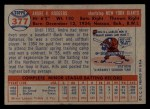 1957 Topps #377  Andre Rodgers  Back Thumbnail