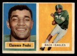 1957 Topps #37  Clarence Peaks  Front Thumbnail