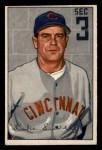 1952 Bowman #94  Luke Sewell  Front Thumbnail