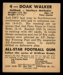 1948 Leaf #4  Doak Walker  Back Thumbnail