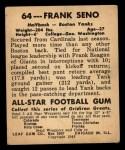 1948 Leaf #64  Frank Seno  Back Thumbnail