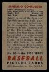 1951 Bowman #96  Sandy Consuegra  Back Thumbnail