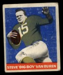 1948 Leaf #22 BLU Steve Van Buren  Front Thumbnail