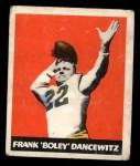 1948 Leaf #38 BLU Frank Dancewicz  Front Thumbnail
