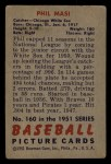 1951 Bowman #160  Phil Masi  Back Thumbnail
