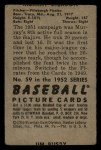 1952 Bowman #59  Murry Dickson  Back Thumbnail