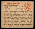 1950 Bowman #131  Steve Gromek  Back Thumbnail