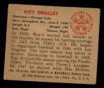 1950 Bowman #115  Roy Smalley  Back Thumbnail