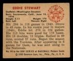 1950 Bowman #143  Ed Stewart  Back Thumbnail