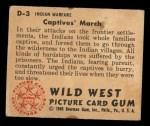 1949 Bowman Wild West #3 D  Captives' March Back Thumbnail