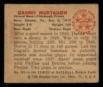 1950 Bowman #203 CPR Danny Murtaugh  Back Thumbnail
