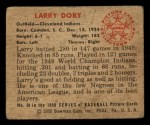 1950 Bowman #39  Larry Doby  Back Thumbnail