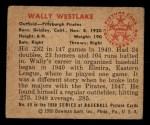 1950 Bowman #69  Wally Westlake  Back Thumbnail