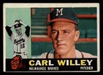 1960 Topps #107  Carlton Willey  Front Thumbnail