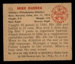 1950 Bowman #157  Mike Guerra  Back Thumbnail
