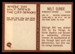 1967 Philadelphia #105  Milt Sunde  Back Thumbnail