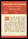 1963 Fleer #30  Booker Edgerson  Back Thumbnail