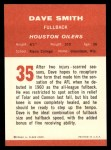 1963 Fleer #35  Dave Smith  Back Thumbnail