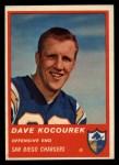 1963 Fleer #71  Dave Kocourek  Front Thumbnail