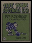 1972 Topps #124   -  John Brodie Pro Action Back Thumbnail