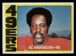 1972 Topps #22  Vic Washington  Front Thumbnail