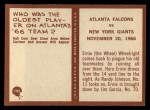 1967 Philadelphia #195   Atlanta Falcons Back Thumbnail