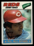 1977 Topps #70  Johnny Bench  Front Thumbnail