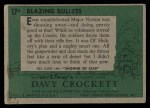 1956 Topps Davy Crockett #17 GRN  Blazing Bullets  Back Thumbnail