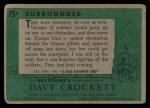 1956 Topps Davy Crockett #75 GRN  Surrounded  Back Thumbnail