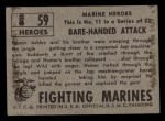 1953 Topps Fighting Marines #59   Bare-Handed Attack Back Thumbnail