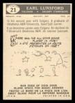 1959 Topps CFL #21  Earl Lunsford  Back Thumbnail