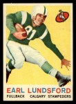1959 Topps CFL #21  Earl Lunsford  Front Thumbnail