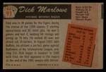 1955 Bowman #91  Dick Marlowe  Back Thumbnail