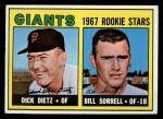 1967 Topps #341   -  Dick Dietz / Bill Sorrell Giants Rookies Front Thumbnail
