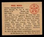 1950 Bowman #128  Phil Masi  Back Thumbnail