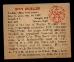 1950 Bowman #221  Don Mueller  Back Thumbnail