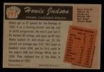 1955 Bowman #193  Howie Judson  Back Thumbnail