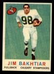 1959 Topps CFL #20  Jim Bakhtiar  Front Thumbnail