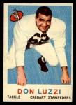 1959 Topps CFL #29  Don Luzzi  Front Thumbnail