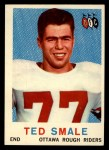 1959 Topps CFL #49  Ted Smale  Front Thumbnail