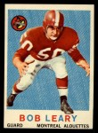 1959 Topps CFL #36  Bob Leary  Front Thumbnail