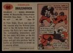 1957 Topps #60  Chuck Drazenovich  Back Thumbnail