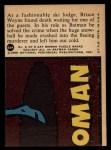 1966 Topps Batman Red Bat #22 RED  Death Skis the Slopes Back Thumbnail