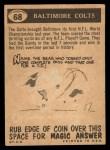 1959 Topps #68   Colts Pennant Back Thumbnail