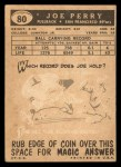 1959 Topps #80  Joe Perry  Back Thumbnail