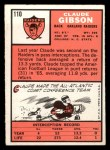1966 Topps #110  Claude Gibson  Back Thumbnail